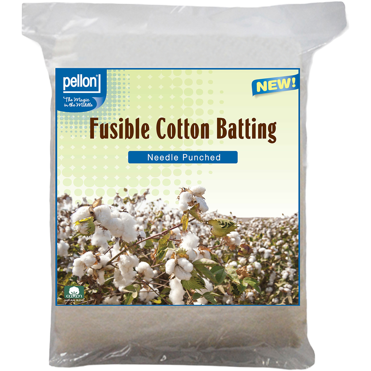 "Pellon Needle Punched Fusible Cotton Batting, 45"" x 60"""