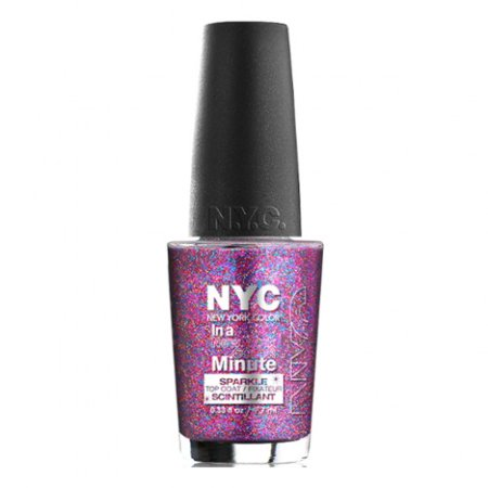 6 Pack  Nyc In A New York Color Minute Sparkle Top Coat   Big City Dazzle
