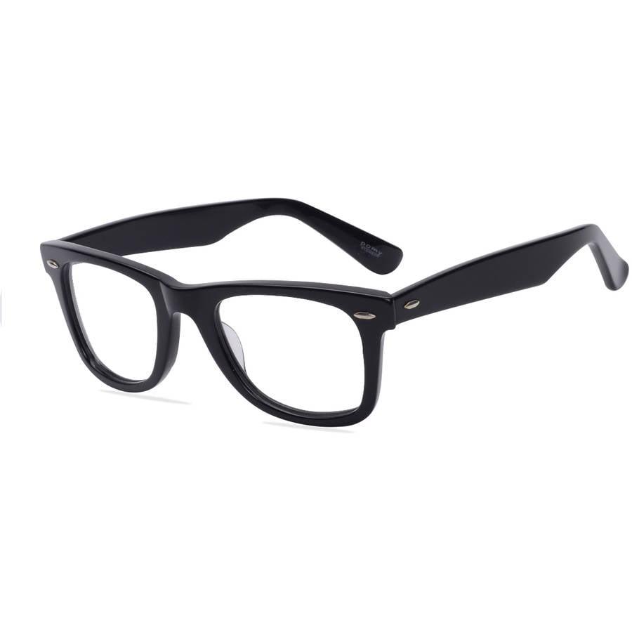 Pomy Eyewear Mens Prescription Glasses, 122 Black