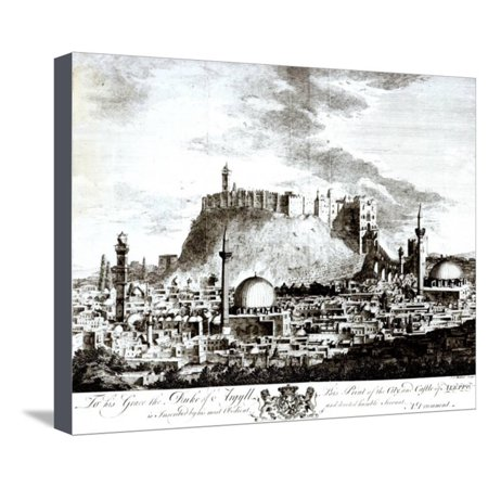 View of the City and Castle of Aleppo, Syria, 1754 Stretched Canvas Print Wall Art By Alexander Drummond