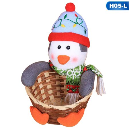 AkoaDa 2018 Merry Christmas Candy Storage Basket Decoration Santa Claus Storage Basket Gift Christmas Decorations For Home ()