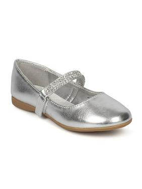 31c921ea5 Product Image Round Toe Rhinestone Mary Jane Ballerina Flat CG37
