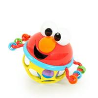 Bright Starts Sesame Street Jingle & Shake Elmo Easy-Grasp Rattle, Ages 3-12 months