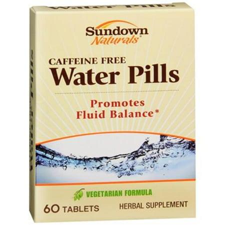 Sundown Naturals pilules d'eau naturels 60 comprimés (pack de 3)