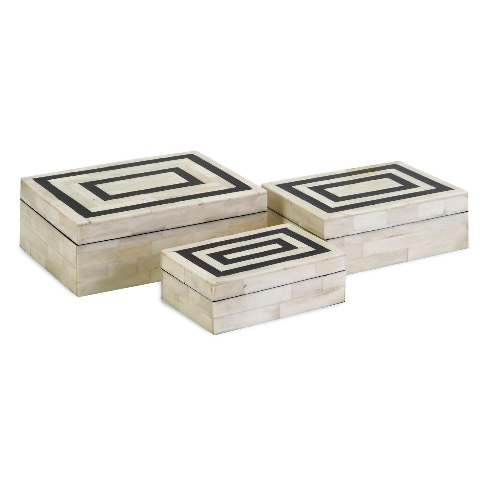 Attractive Bella Bone Inlay Boxes - Set of 3