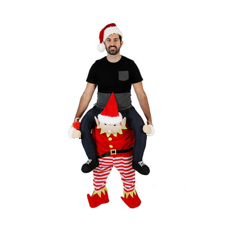 Christmas Piggyback Ride On Elf Costume - Homemade Christmas Costume