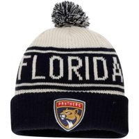 Florida Panthers Fanatics Branded True Classic Z Route Cuffed Knit Hat with Pom - White - OSFA