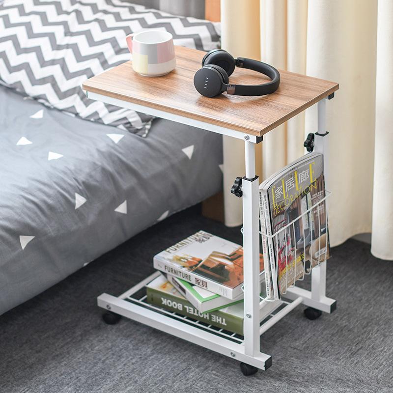 Adjustable Height Standing Desk With Storage Basket - Mobile End