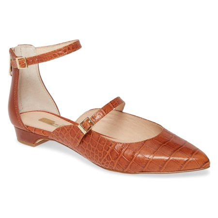 Louise et Cie Women's Claire Ankle Strap breezy open-sided flat-BEGONIA