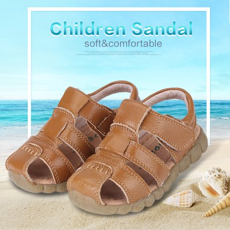 5b37babc6 Dilwe Children Kids Boys Girls Summer PU Leather Sandal Casual Hollow Out  Soft Sole Shoes
