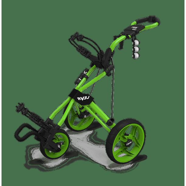 Rovic By Clicgear Rv3j Junior 3 Wheel Golf Push Cart Lime Walmart Com Walmart Com