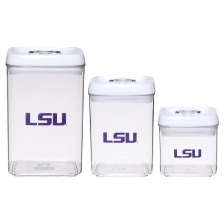 LSU Tigers 3-Piece Storage Container Set - No Size - Lsu Store
