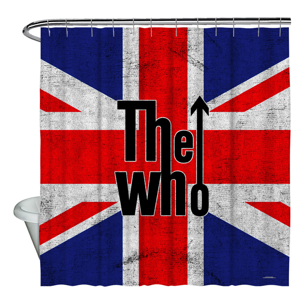 The Who Who Flag Shower Curtain White 71X74