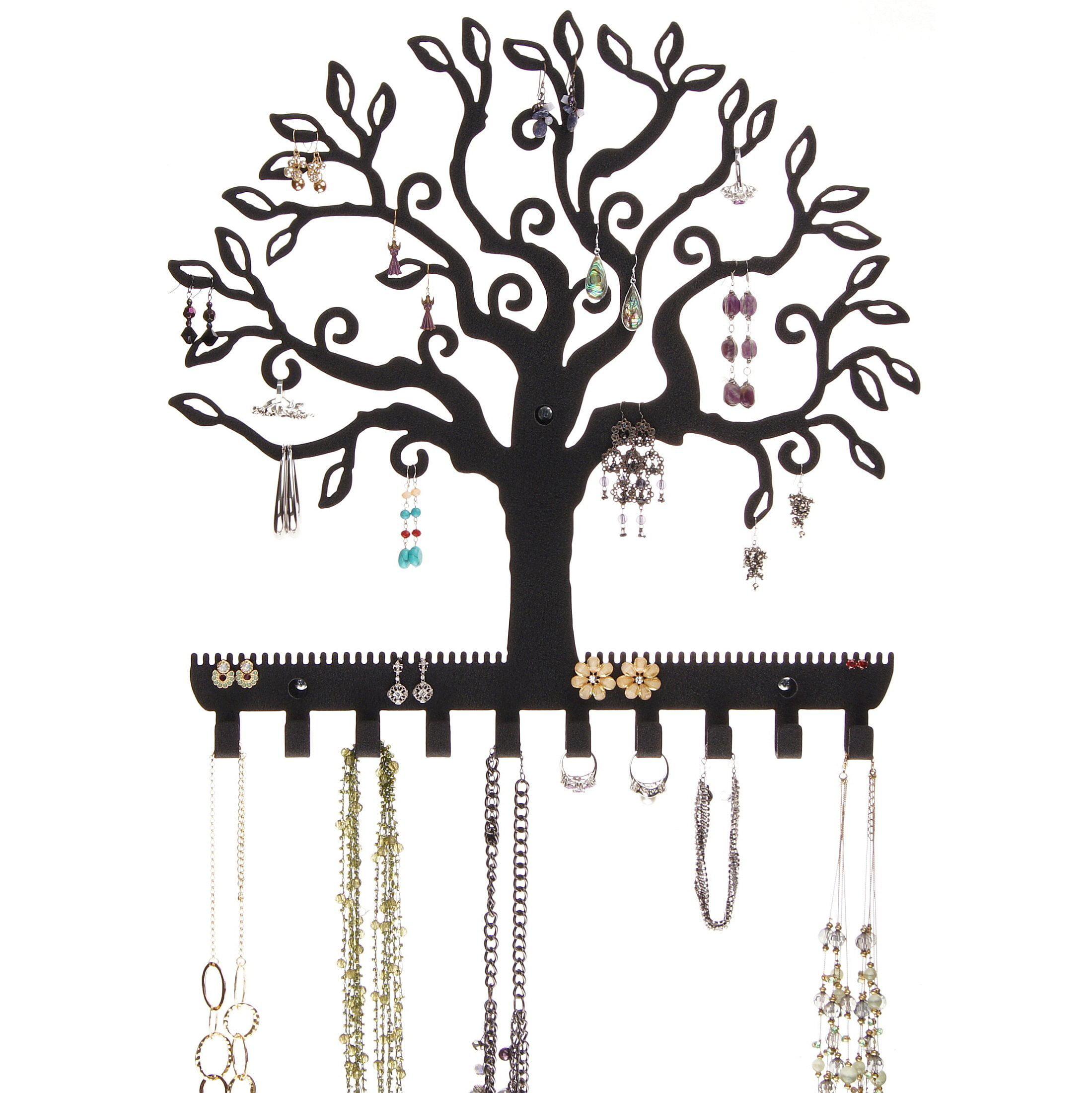 Bracelet Holder Jewelry Organizer Wall Mount Cork Earring Holder Jewelry Tree