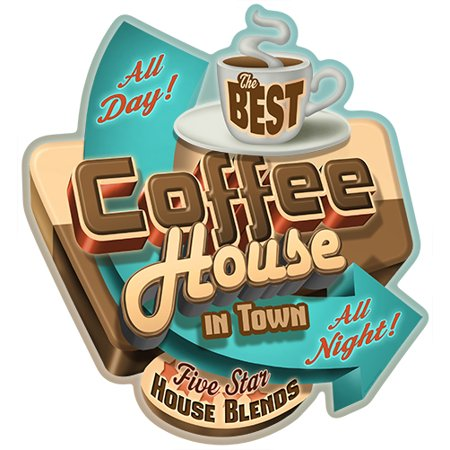 Best Coffee In Town [3 Pack] of Vinyl Decal Stickers | 5