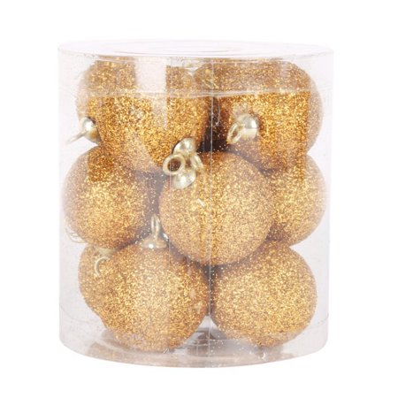 SWEETLIFE 12pcs Christmas Tree Ball Baubles Xmas Party Wedding Hanging Ornament Festival Decorations
