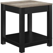Altra Furniture Carver End Table in Black and Sonoma Oak