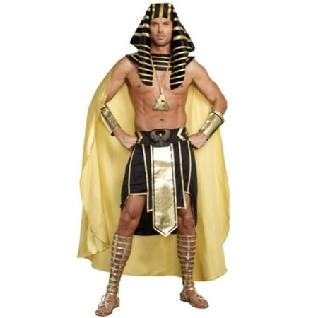King Of Egypt Costume Dreamgirl 9893 Black/Gold](Male Egyptian Costumes)