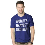 d6ea0e92 Mens Worlds Okayest Brother Shirt Funny T shirts Big Brother Sister Gift  Idea