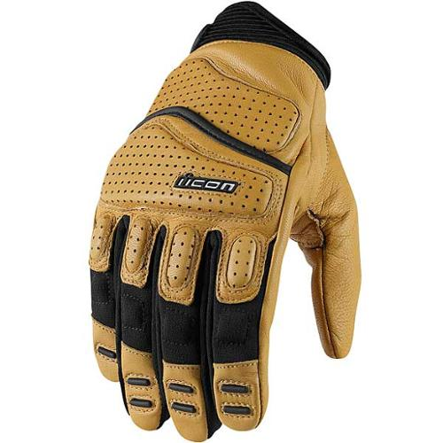 Icon Superduty 2 Leather Gloves Tan