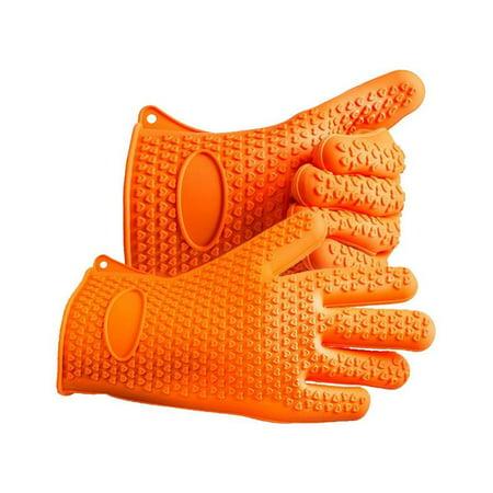 Greenco 0113B 1 Pair 5 Fingered Heat Resistant Baking Mitt, Orange (Sonnenbrille Mit Sehstärke 1 5)