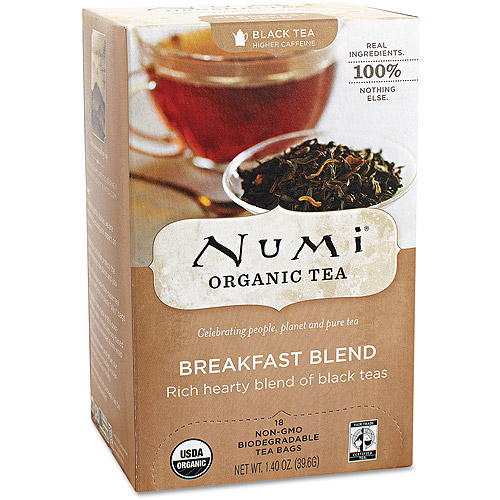 Numi Organic Black Tea Bags Breakfast Blend - 18 CT
