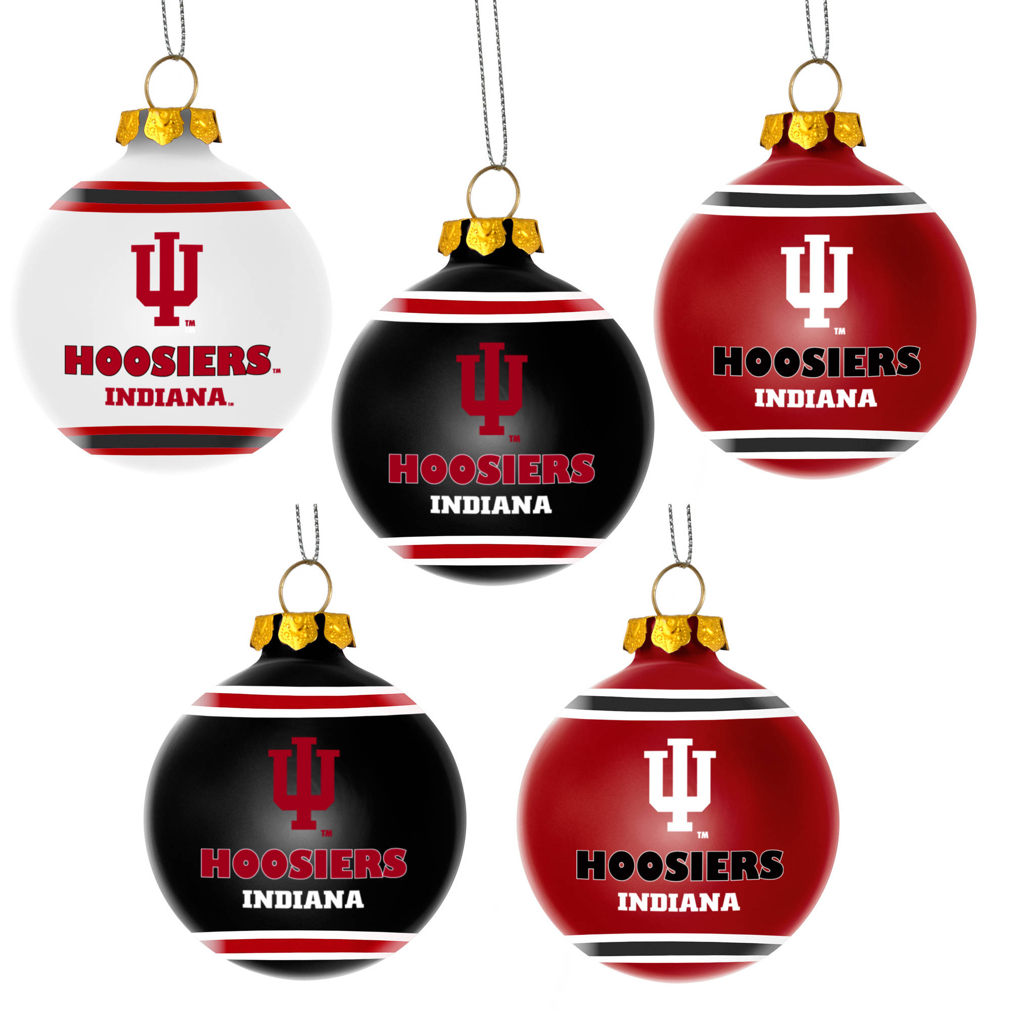 Forever Collectibles NCAA 5-Pack Shatterproof Ball Ornaments ...