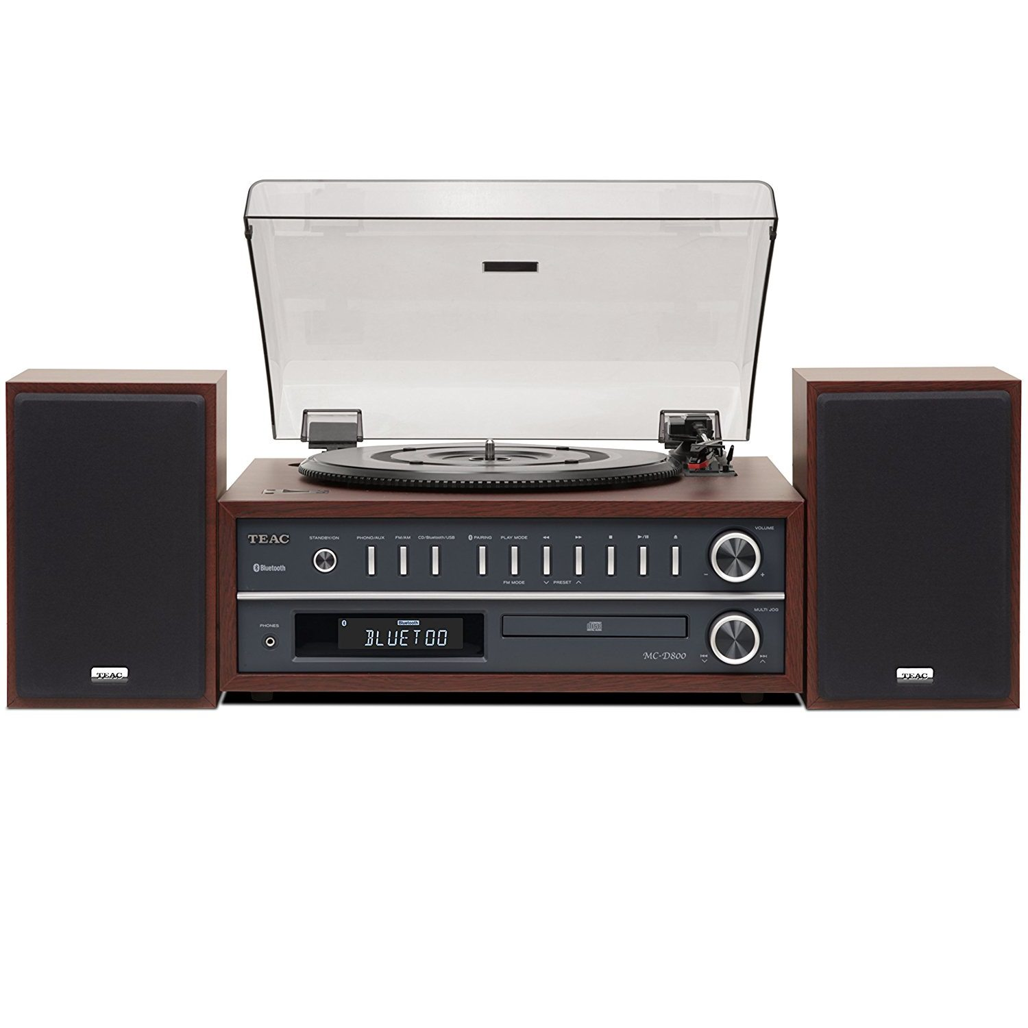 CERTIFIED REFURBSHED Teac MC-D800-CH All-In-One Turntable Speaker System with Bluetooth USB MP3 WMA AM FM by TEAC