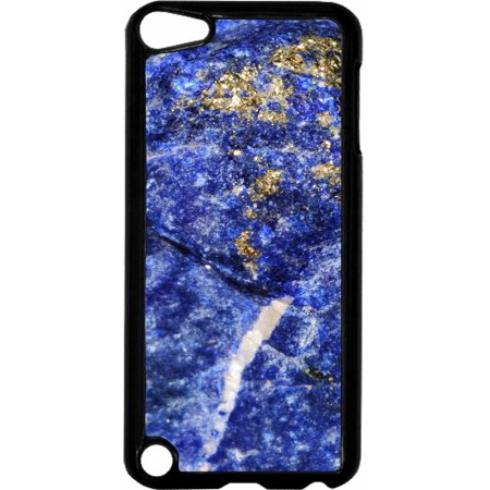 Blue Stalcite Rock Print   - Hard Black Plastic Case Compatible with the Apple iPod Touch 5th Generation - iTouch 5 Universal ()
