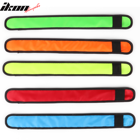LED Slap Armband Lights Glow Safety Band for Night Running 35cm 5 Colors 5pcs