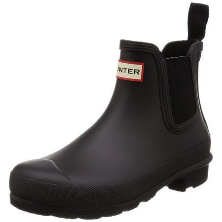 Hunter Women's Original Chelsea Boots, Black, 7 B(M) US