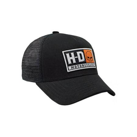 Harley-Davidson Mens Embroidered H-D Willie G Skull Baseball Cap, Black BCC04330, Harley Davidson