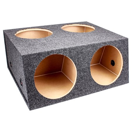 Q Power Quad 4 Hole 12 Inch Sealed Divided Speaker Box Subwoofer Enclosure ()