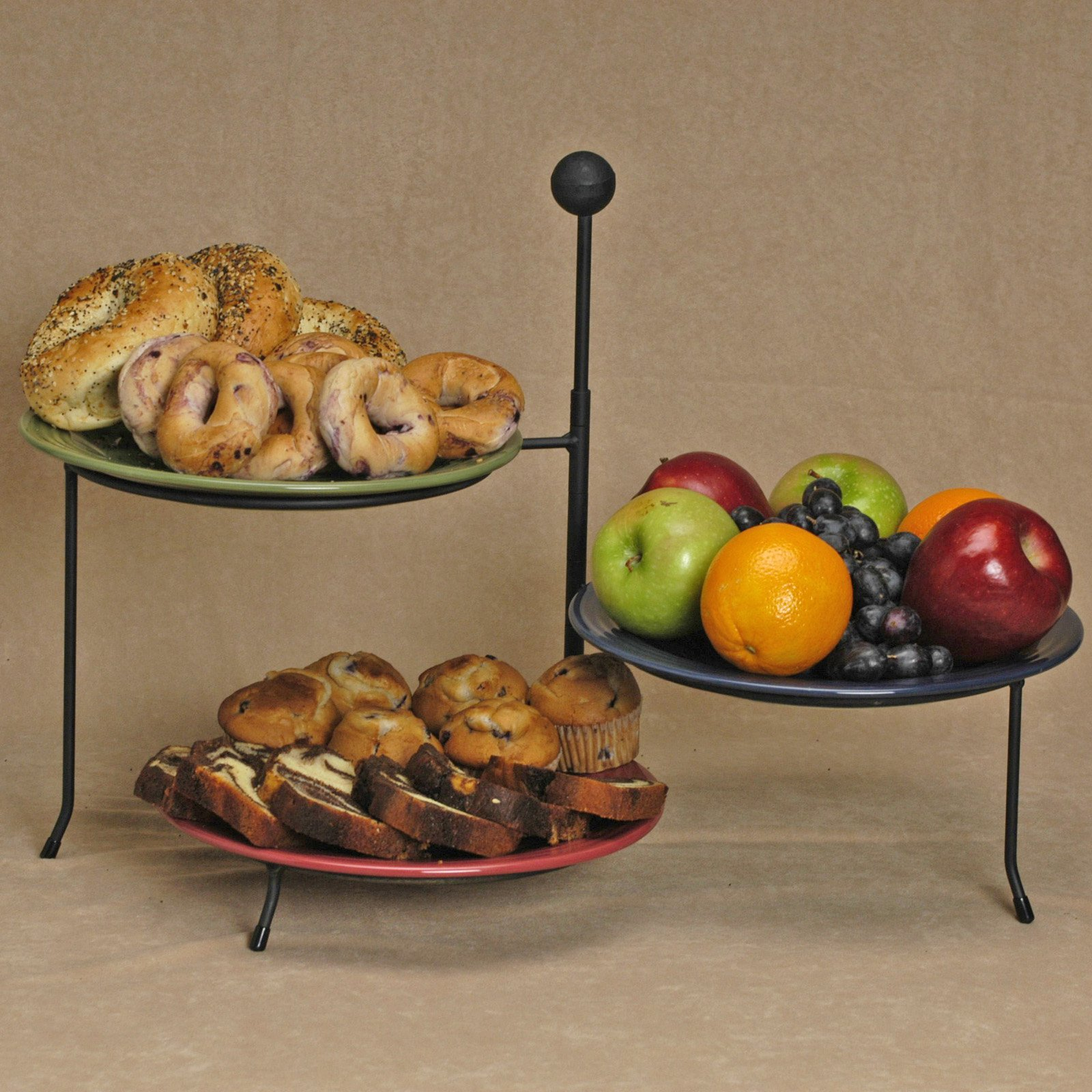 J & J Wire 9-in. Triple Serving Rack