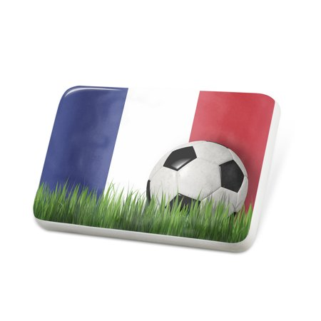 Porcelein Pin Soccer Team Flag Reunion region France Lapel Badge – NEONBLOND