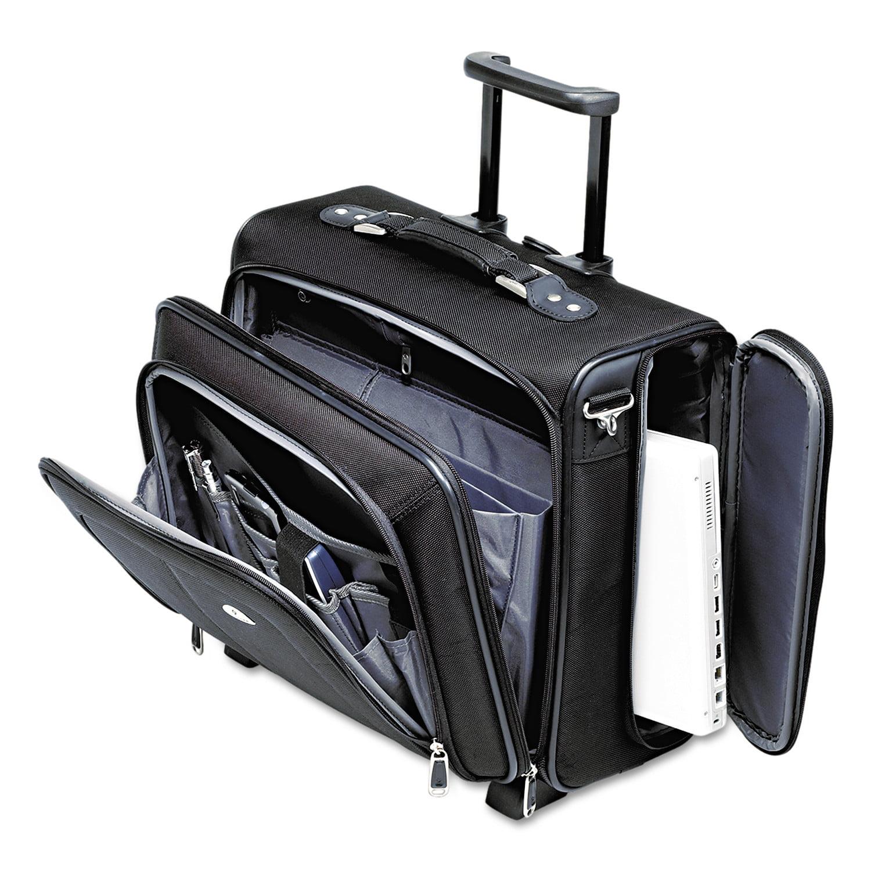 Samsonite Side Loader Office Rolling Laptop Case, Nylon, 17 1 2 x 7 1 2 x 15, Black by Samsonite