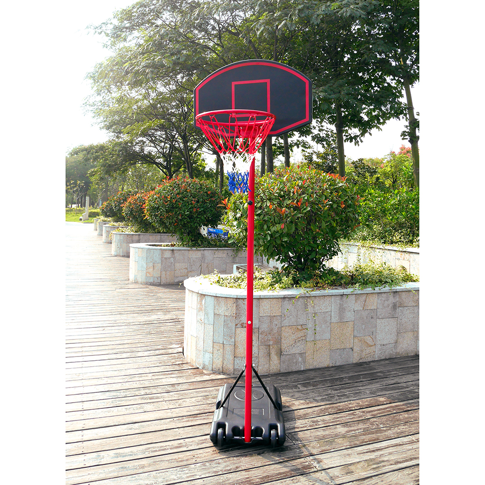 Zimtown 5.2-7.2ft Height Adjustable Basketball Hoops, Movable   Portable Basketball Goals System with Net, Rim,... by