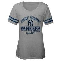 MLB NEW YORK YANKEES TEE Short Sleeve Girls Fashion 60% Cotton 40% Polyester Alternate Team Colors 7 - 16