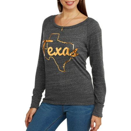 Home free women 39 s texas gold foil state outline graphic for T shirt printing in houston tx