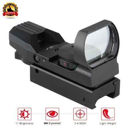 Excelvan Micro Red & Green Illuminated Dot Sight Riflescope, Micro Rifle Gun Sights, Multi-Coated Lenses 100% Fogproof Shockproof Optics