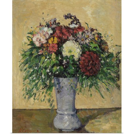 Paul Cezanne Vases (Great BIG Canvas | Rolled Paul Cezanne Poster Print entitled Bouquet of Flowers in a Vase, c.1877 )