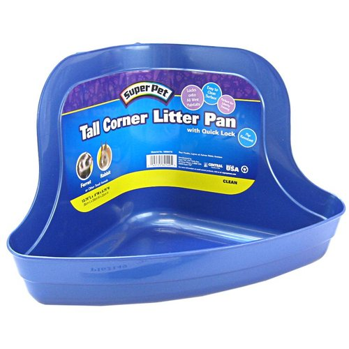 Super Pet Tall Corner Litter Pan with Quick Lock Tall Corner Litter Pan with Quick Lock