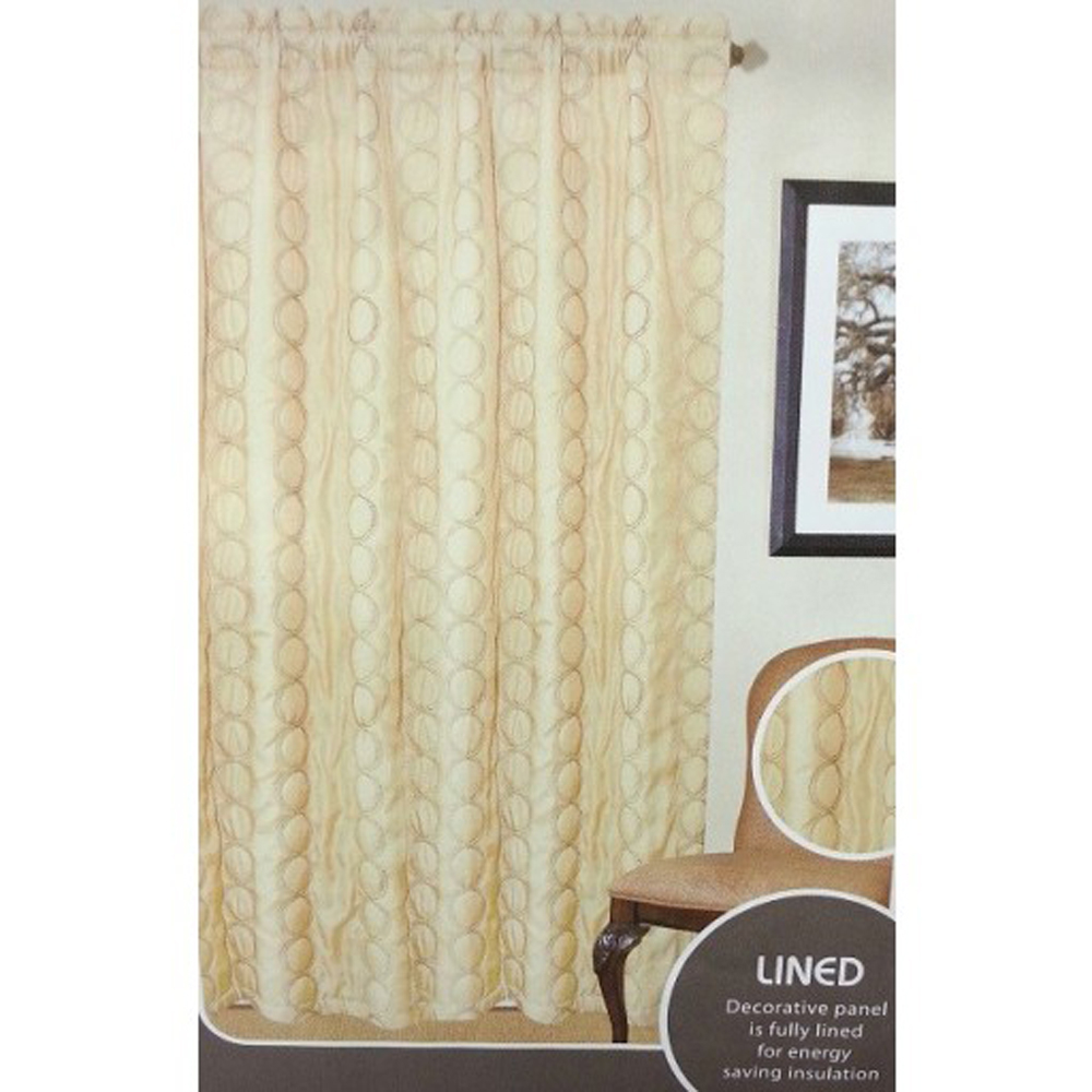 """2834 42x84"""" Insulated Lined Panel/Curtain Brownstone Sand"""