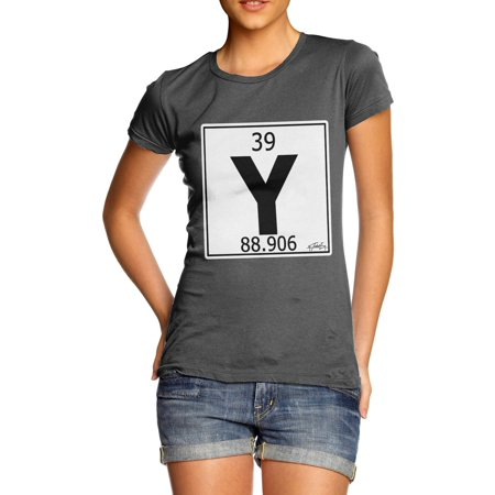 Womens T Shirt Periodic Table Element Y Yttrium Funny Gifts For