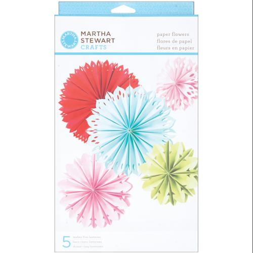Modern Festive Paper Flowers Kit - Makes 5-