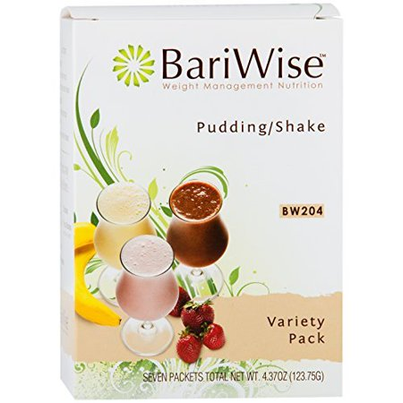 BariWise High Protein Shake / Low-Carb Diet Pudding & Shake Mix - Variety Pack (7 Servings/Box) - Gluten Free, Low Fat, Low Carb