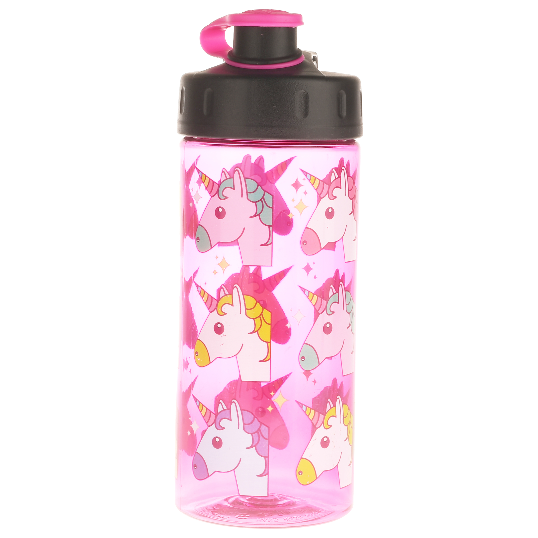 Cool Gear, Multicolored Unicorns, 16 Fl oz Flip Top Beverage Bottle