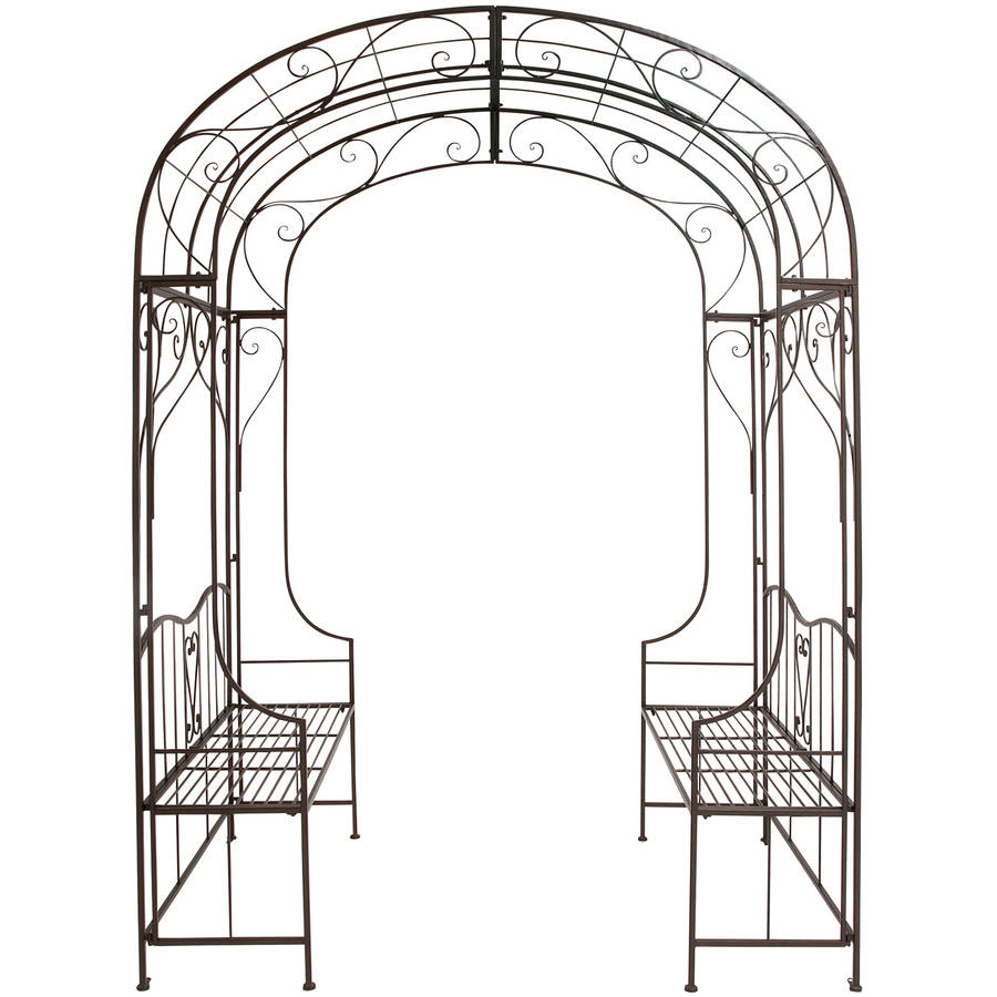 Benzara The Cool Metal Arch With Bench