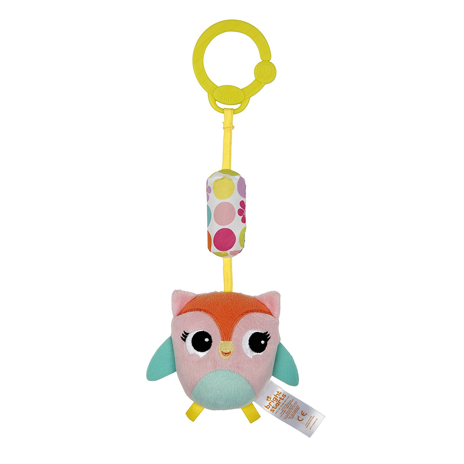 Bright Starts Chime Along Friends Owl Pink Aqua by