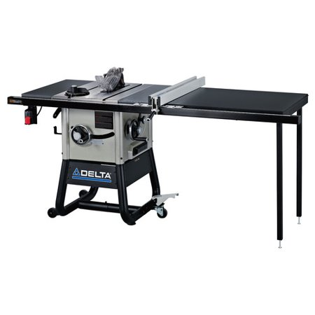 Delta 36-5052 15 Amp 10 in. Contractor Table Saw with 52 in. RH Rip & Steel Wings